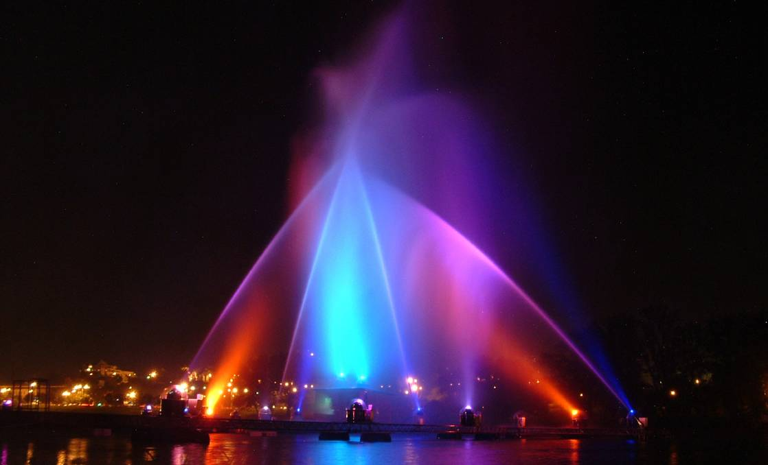 COLOURFUL: An overseas laser and water show. Photo: Free Images
