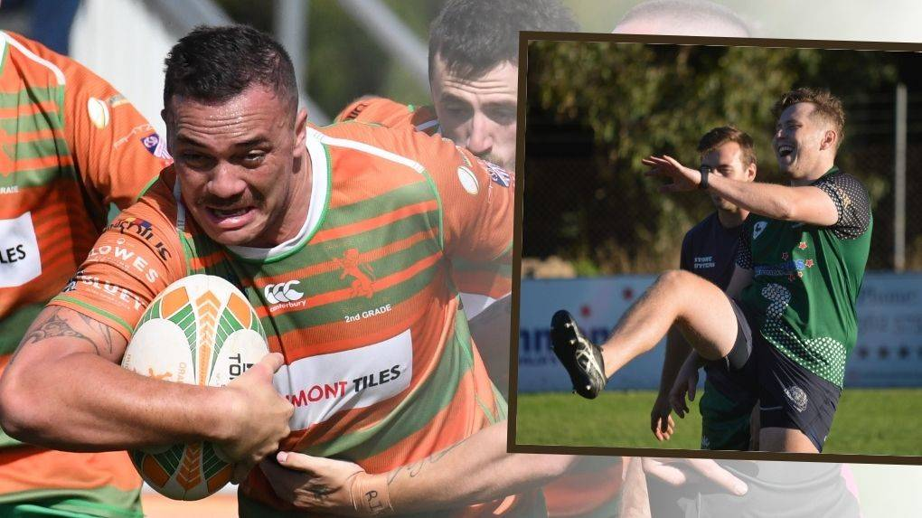 KEYS: Traye Hodge will debut for Orange City on Saturday at Pride Park while Charlie Henley will again lead Emus against the Dogs. Photos: JUDE KEOGH and MATT FINDLAY