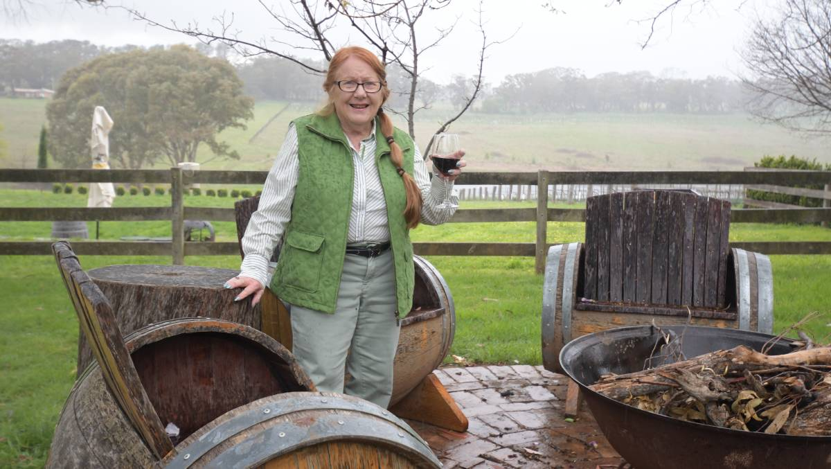 A GOOD RED: Valerie Hambrook at Stockman's Ridge. Photo: CARLA FREEDMAN.