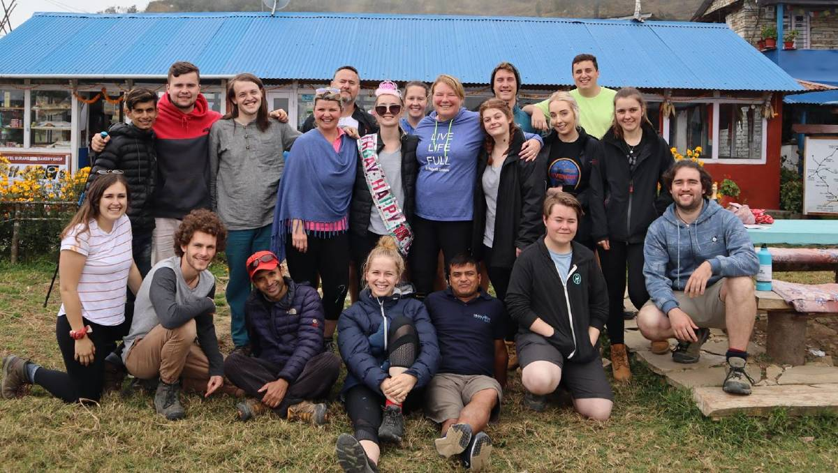 SCHOOLIES: The group of 20 graduates, which included Orange High School, James Sheahan Catholic High School and Kinross Wolaroi School students in Nepal.