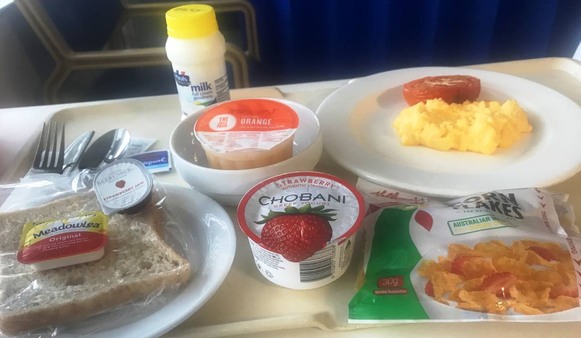 Who could complain about a hospital breakfast like this in St Vincents Hospital in Sydney. Our health system is the best.