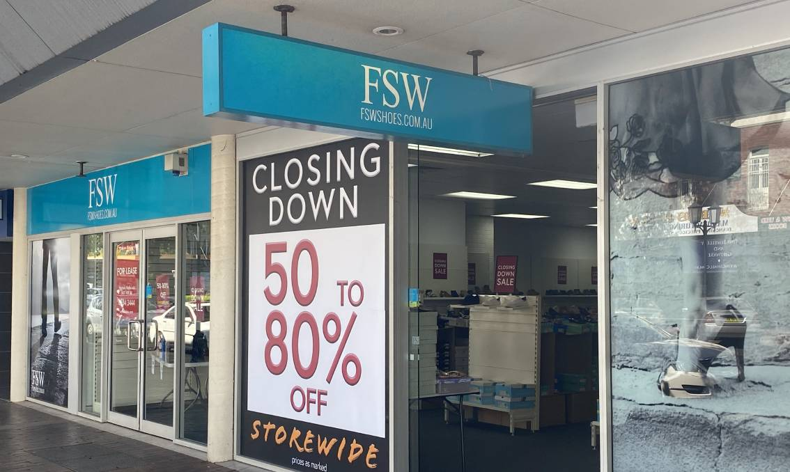 GONE: The FSW location in Dubbo. That store will close, but its Orange shop will remain open.