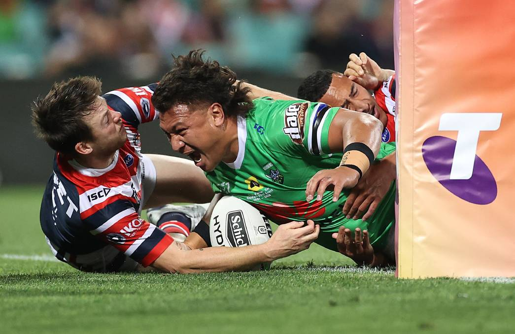 Raiders prop Josh Papalii has helped send the Green Machine to another prelim final. Picture: Getty Images