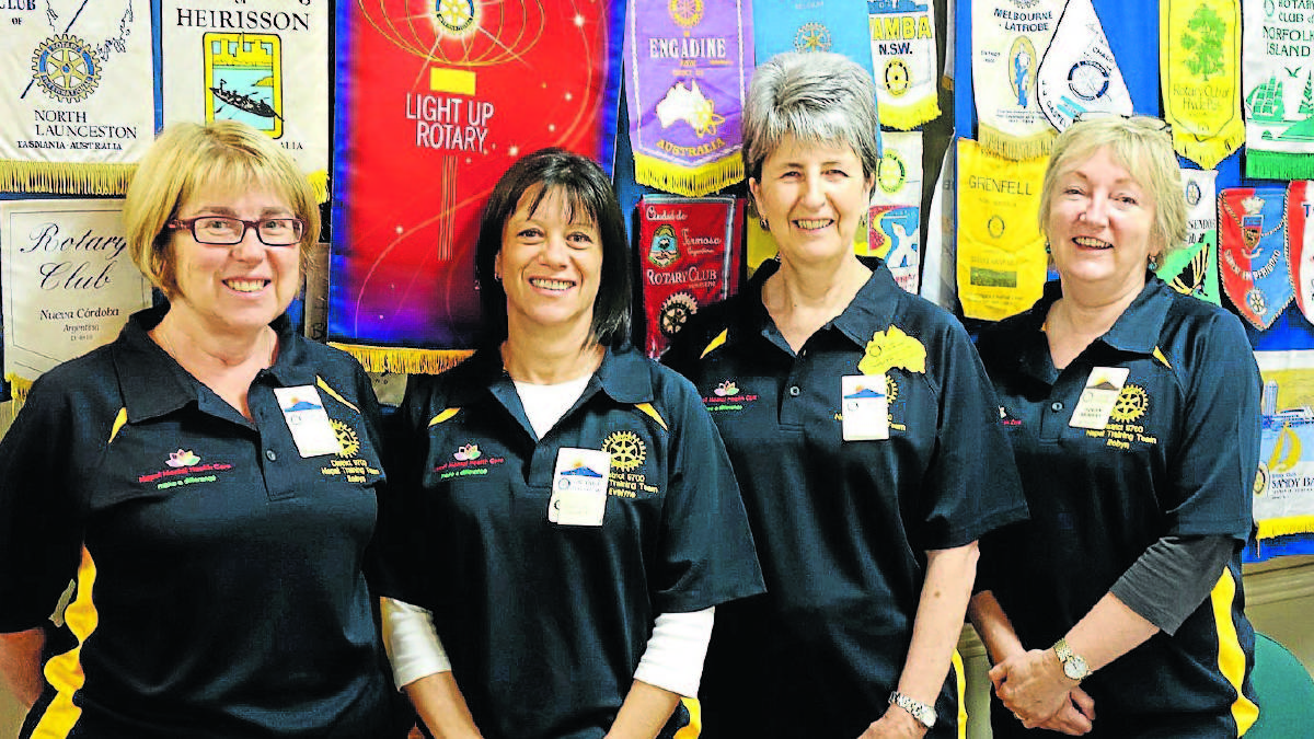 OFF TO NEPAL: Robyn Jeffrey, Evelyn Foucaut, Nanette Fogarty and Robyn Murray are among the Orange Daybreak Rotary-supported volunteer team flying out to Nepal at the weekend to help deliver mental health programs. Photo: CONTRIBUTED
